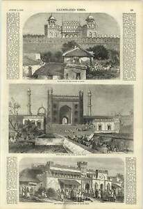 1857 Commissioners Court Delhi Great Gate Jumna Masjid City Plan - Jarrow, United Kingdom - If for any reason you are not satisfied with your item, do let us know. If you wish to return it, you may, within 7 days, and we will issue you with a full refund. Most purchases from business sellers are protected by the Consumer - Jarrow, United Kingdom