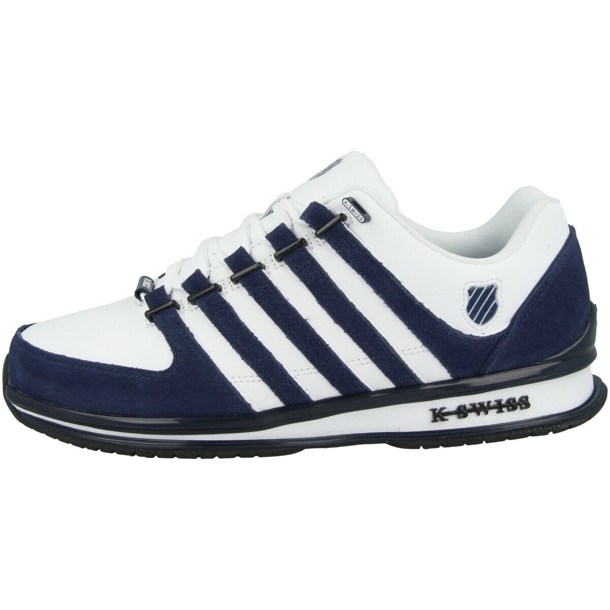 K-Swiss Rinzler SP Scarpe Tempo Libero scarpe da ginnastica in Pelle bianca Navy nero 02283-915