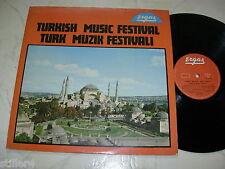 TÜRKEI LP TURKISH MUSIC FESTIVAL Güneri Tecer, Safiye Filiz, Aycan Can uva.