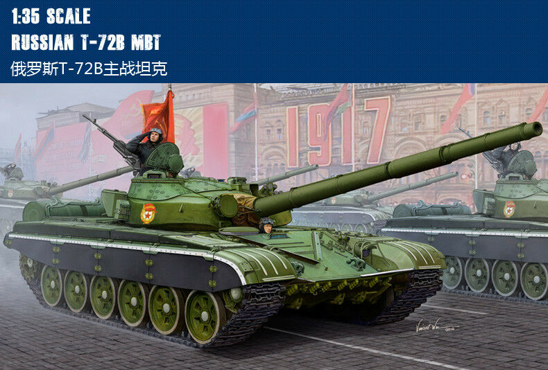 Trumpeter Russian Army T-72B Main Battle Tank Armoruge Car 05598 1 35 Scale Model