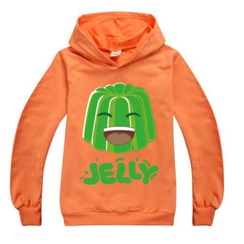 New Girls Hoodies jelly green Casual Boys Hooded Sweatshirt Tops Kids Xmas Gift
