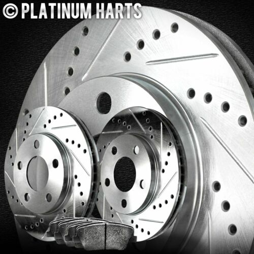 For 1999-2003 Ford Windstar Front HartBrakes Brake Rotors+Ceramic Pads