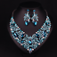Fashion-Crystal-Pendant-Bib-Choker-Chain-Statement-Necklace-Earrings-Jewelry thumbnail 162