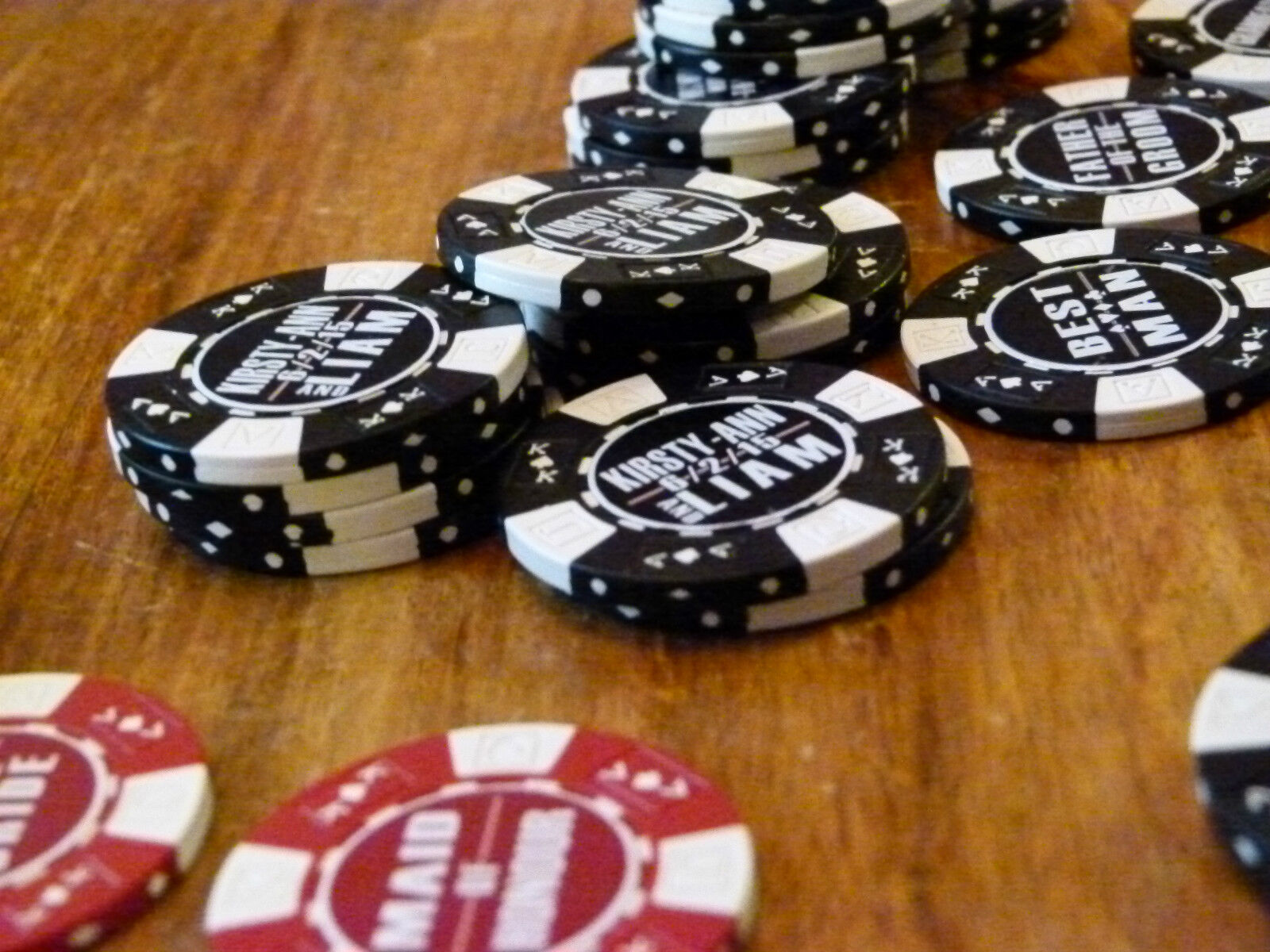 Personnalise Personnalise Personnalise Poker Chip Save The Date