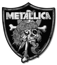 Metallica - Raiders Skull Pirate Pushead Patch Aufnäher Thrash Heavy Metal Neu