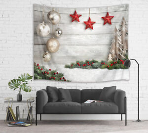 Details about Tapestry Wall Hanging Bedroom Livingroom Home Christmas Decor  Bright Wood Style