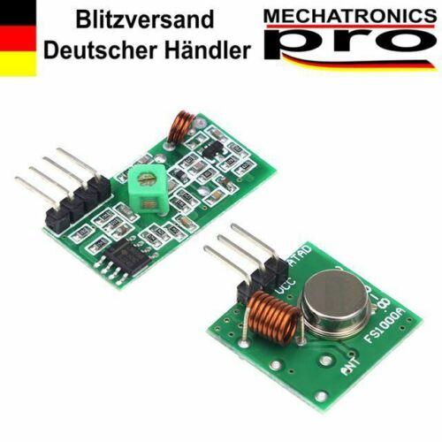 315 Mhz Sender Empfänger RF Funk Modul Transmitter Arduino Raspberry Pi