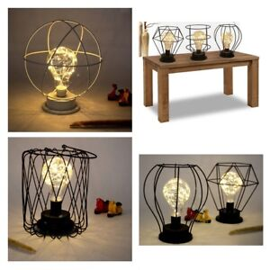 image is loading vintage-retro-haing-or-table-lamp-wire-cage-