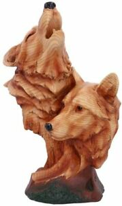 Animal/Ornament/Figurine - NATURAL CALL (Wolf/Wolves) - Resin Wood Effect Figure