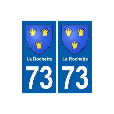 73 La Rochette blason autocollant plaque immatriculation ville droits