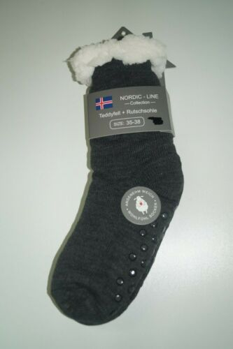 taille 35-38 ABS Northlux Thermiques Femmes-Teddyfell-Chaussettes Gris foncé 1024 1019