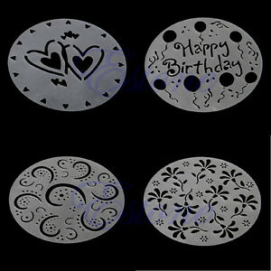 Pack-of-4-Variety-Cake-Cupcake-Stencil-Template-Mold-Birthday-Spiral-Decoration