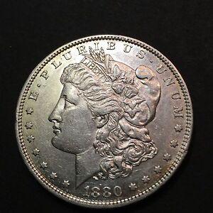 1880-O-HIGHER-GRADE-Silver-Morgan-Dollar-Rare-US-Old-Antique-Coin
