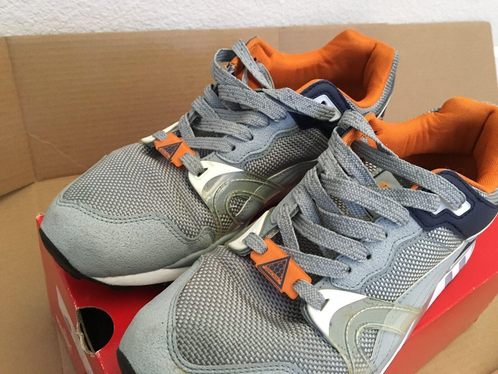 PUMA Men Schuhe Trinomic XT2 Plus Tech Schuhe Men 9.5 Silver Reflective Navy Orange 7fd18c