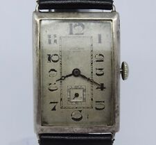 VINTAGE c.1930's Vulcain Swiss .925 Sterling Silver Large Mens Chronometer Watch