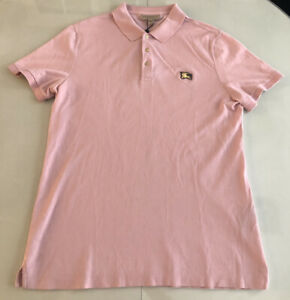 Details about Brand New w/Tags Auth Mens Pink Burberry Brit Gold Metal Logo Polo Shirt Size XL