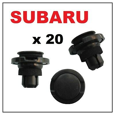 5 Rocker Moulding Push-Type Retainers With Sealer For Subaru 90914-0055