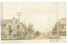 RPPC Miller Street View STRASBURG PA Lancaster County Real Photo Postcard