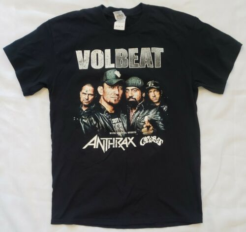 Volbeat Anthrax Crobot Concet Tour Shirt 2015 Siz… - image 1
