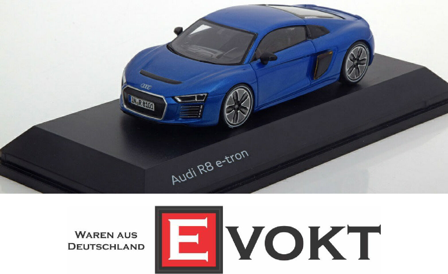 Audi R8 e-tron magnétique bleu 1 43 5011618431 Voiture Modèle Minimax Etron Bleu