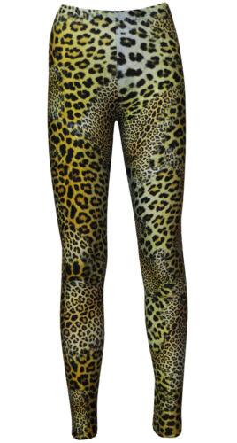 Premium Classic Wild Pelle di leopardo Animal Print Leggings alternativa Halloween