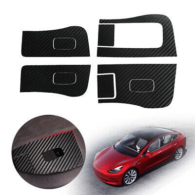 Carbon Fiber Inner Car Window Switch Panel Cover Sticker For Tesla Model 3 Us Ebay