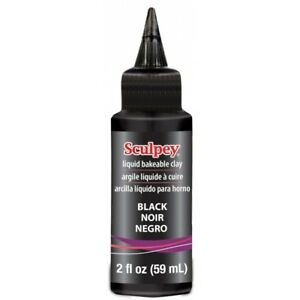 Sculpey-Black-LIQUID-SCULPEY-Bakeable-Clay-and-Transfer-Medium-2-oz-Made-in-USA