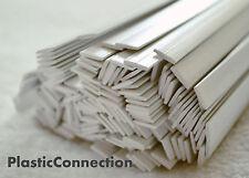 PP Plastic welding rods (8mm) white, pack of 32 pcs /flat strips shape/