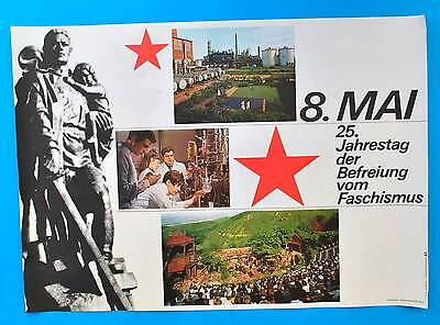Ddr Plakat Poster 1148 | 8. Mai 1970 25. Jt Der Befreiung | 81 X 58 Cm Original Halten Sie Die Ganze Zeit Fit