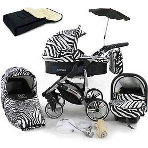 Baby Pram Stroller Pushchair Car Seat Buggy Umbrella