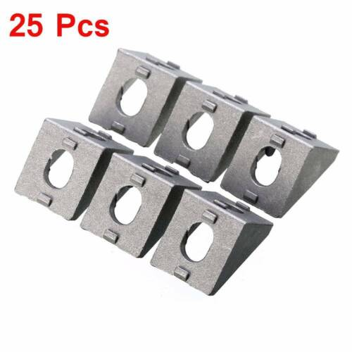 25pcs Durable Silver Aluminum 2020 Corner Bracket 20x20x17mm Cast Solid Brackets