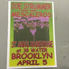 JOE STRUMMER & THE MESCALEROS - CONCERT POSTER NEW YORK 5TH APRIL (A3) THE CLASH