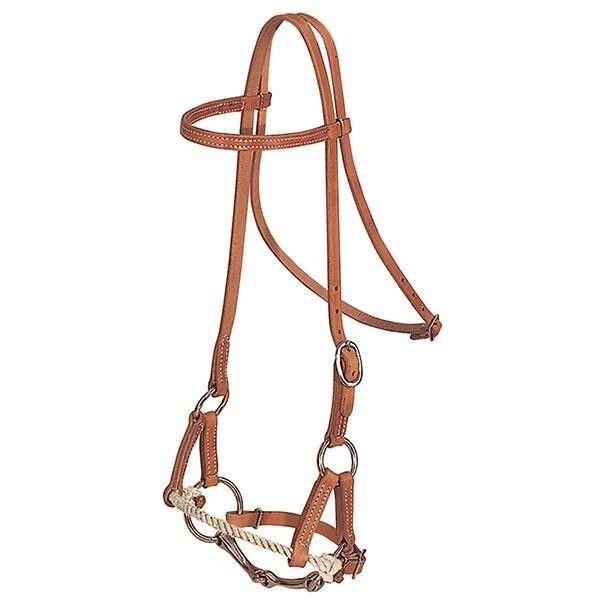 Weaver Leather Half Breed Single Rope 5 8  Wide Western Headstall