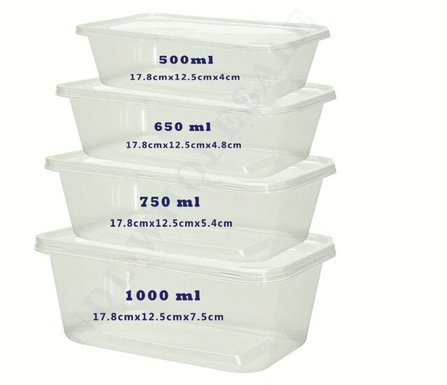 Wonderful Freezer Safe Storage Containers Part - 11: Clear Plastic Container + Lids Takeaway Microwave Freezer Safe-For Food  Storage