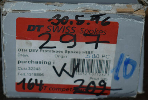 DT Swiss Competition DD spokes 2,0//1,8 x 297 White Straightpull