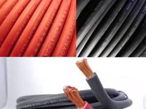 2 Ga Bare Copper Sgx Battery Cable Black-100Feet