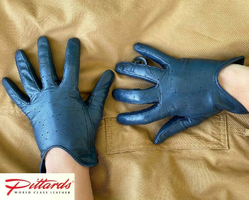 ! nuevo! con Estilo Clásico Azul Marino Cuero Guantes! nuevo!