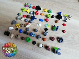 LEGO-Parts-X60-WEARABLES-HATS-HAIR-HEMETS-WAIST-amp-FEET-ITEMS-FOR-MINIFIGURES