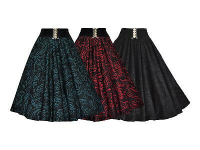 Vintage 1950's & Fashion Belted Jacquard Full Circle Swing Party Skirt New 8-20 100% Garantie