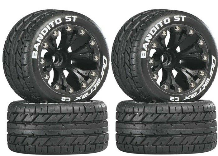 NEW Duratrax Bandito ST Street Tires Wheels 4 Electric Stampede Rustler 2WD