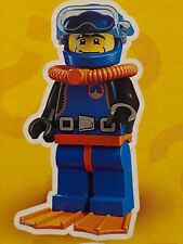 "~ The /""DEEP SEA DIVER/"" ~ 8683 SEALED PACK - 2010 LEGO MINIFIGURES SERIES 1"
