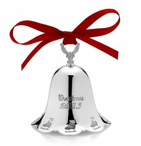 TOWLE-SILVERSMITHS-2013-Annual-Pierced-CHRISTMAS-BELL-Ornament-34th-Edition-NEW