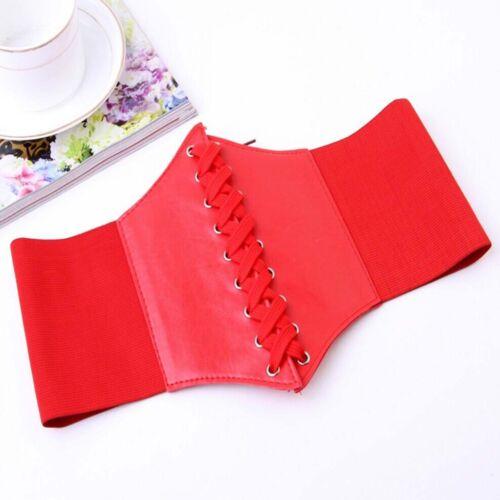 Femmes Corset large cuir Slimming Body ceinture élastique taille haute stretch soulignera votre taille