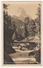 Switzerland, Visp und Matterhorn Postcard, B216
