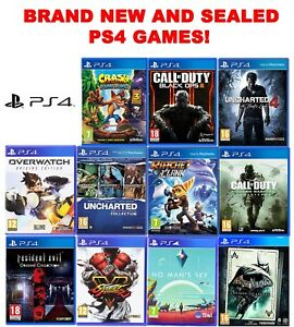 PS4 Game Bundle! Black Ops Uncharted Call Of Duty Crash Overwatch Ratchet Lego