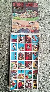 Vintage SPACE Transfer Tattoos Display with 12 SHEETS of 24 TRANSFERS 1950s #4