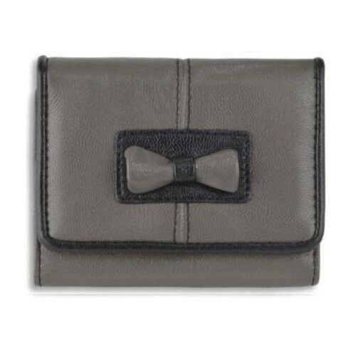 Womens Faux Leather Bow Detail Photo Credit Card Holder Wallet Ladies Purse