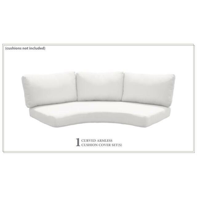 High Back Curved Armless Sofa Cushions