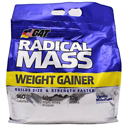 GAT RADICAL Lean MASS Lean RADICAL Muscle Weight Gainer Protein Complex Carb 10 lb, 2 FLAVORS c053a8