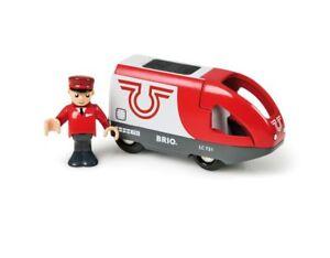 Brio 33504 Triebwagen Batterielok+Lo<wbr/>kführer für Holzeisenbahn NEU!    #